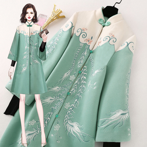 Republic of China women's clothing costume improvement Han clothing modern Tang suit autumn and winter Chinese style women's clothing ancient style coat cheongsam top