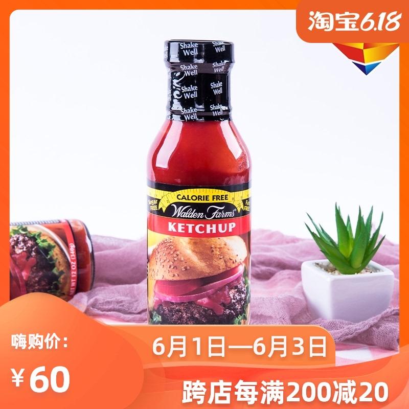 美国Walden Farms低脂番茄酱无糖零卡沙拉酱健身鸡胸调味340g生酮