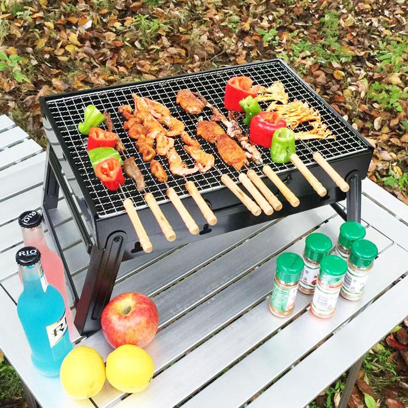烧烤架家用木炭户外烧烤炉便携加厚烤肉炉折叠烧烤工具3至5人全套