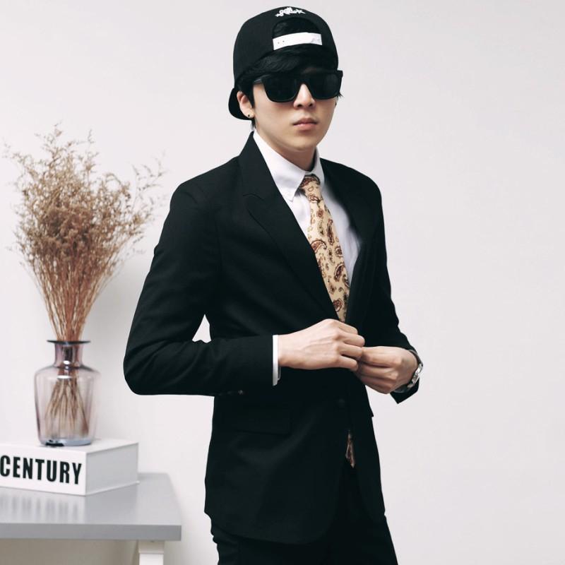 2018秋冬装新款男士西服韩版修身外套男生休闲装青年小西装