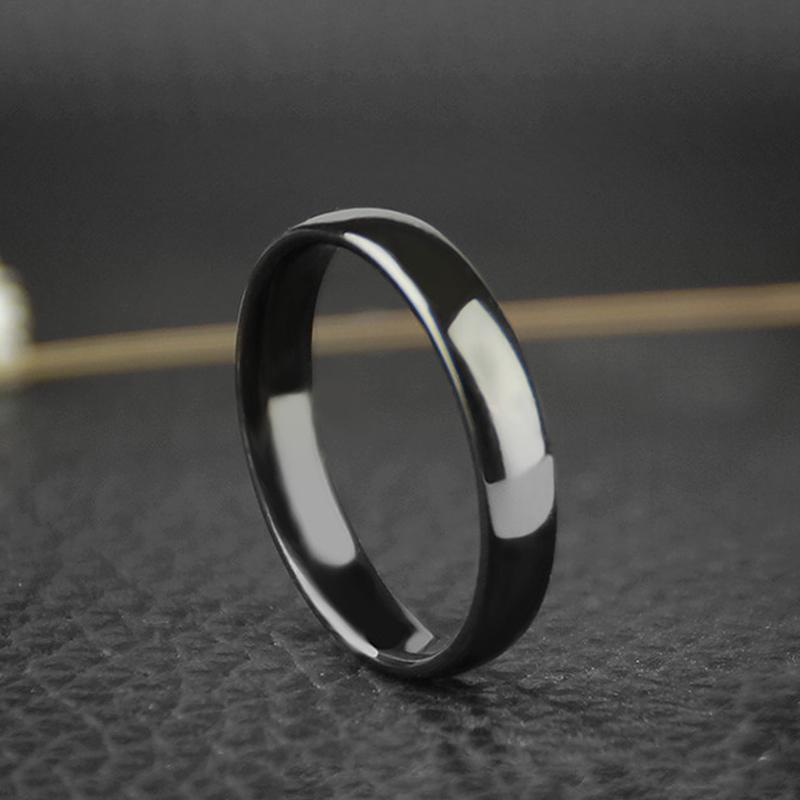 钨金戒指男韩版钛钢指环戒子饰品个性男生 不掉色戒指