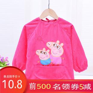 宝宝罩衣吃饭防水女孩秋冬男童婴幼儿围兜防脏反穿衣儿童围裙