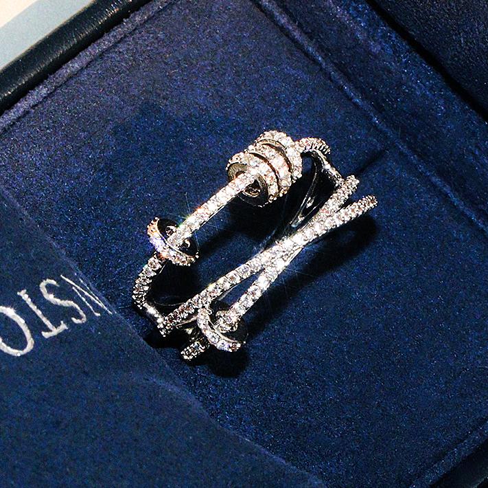 欧美925纯银食指戒指女时尚个性ins潮人小众设计时来运转网红指环