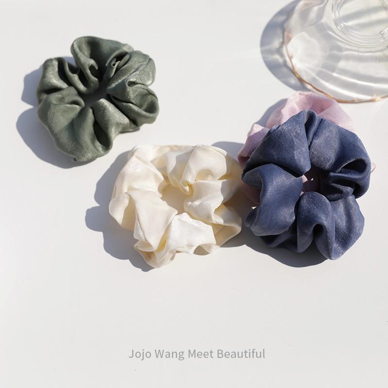 jojowang大肠圈法式复古紫色简约韩国ins头绳大发圈头花港风发饰