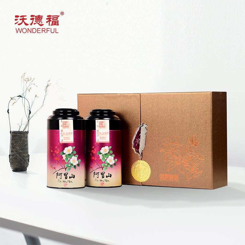 沃德福 阿里山高山乌龙茶 台湾原产高山乌龙茶叶 高端伴手礼盒装