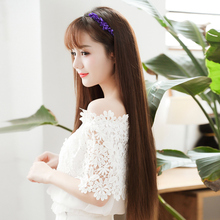 Enia wig, women's long hair, Chinese suit, straight hair, one piece, invisible and traceless hair, three pieces of natural simulation