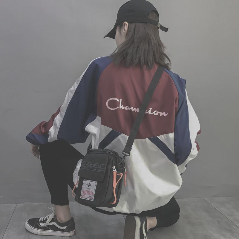 2019新款潮韩版百搭斜挎时尚ins学生运动蹦迪网红同款小黑包包女