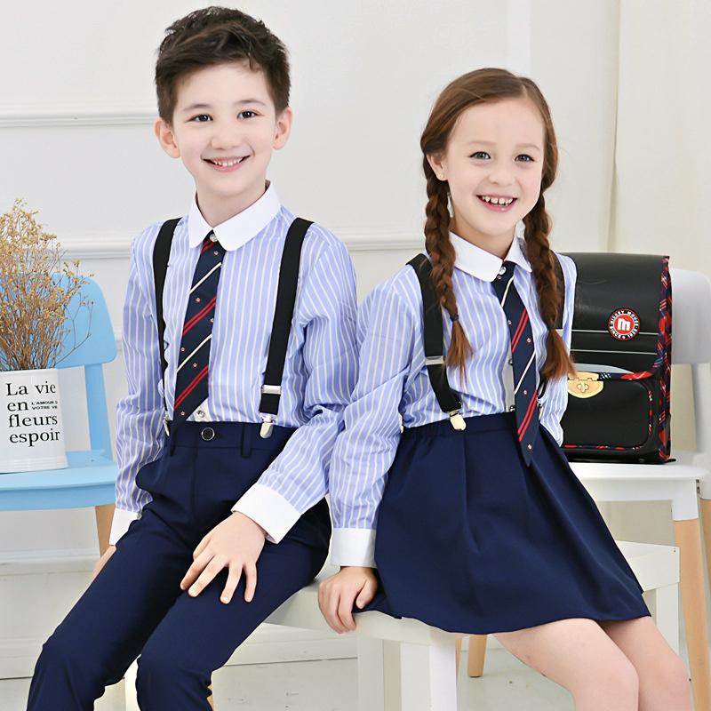 儿童表演服套装男女童背带裤花童礼服中大童主持钢琴演出合唱校服