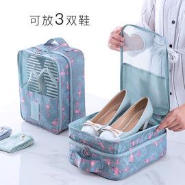 鞋袋鞋子收纳袋双层三位靴罩防水防尘防潮旅行手提可套拉杆箱鞋罩