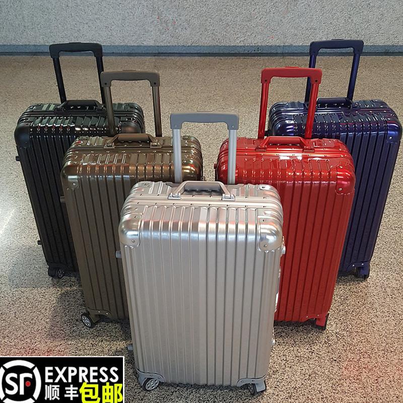金属行李箱男30寸铝框拉杆箱万向轮24寸结婚旅行箱26女28寸pc皮箱