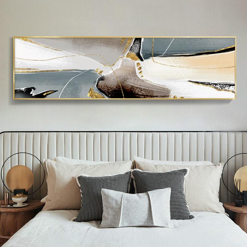 点击查看商品:格丽现代简约床头装饰画卧室抽象横幅轻奢壁画北欧客厅房间挂画