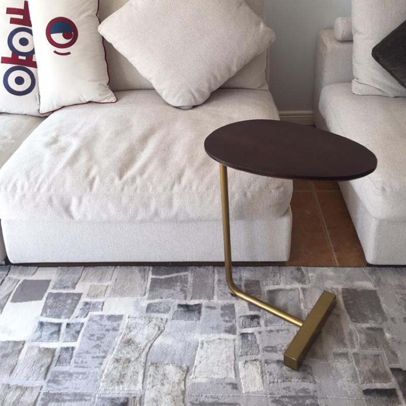 [¥115]北欧简易卧室小桌子床边桌床头桌铁艺实木现代边柜北欧床头柜