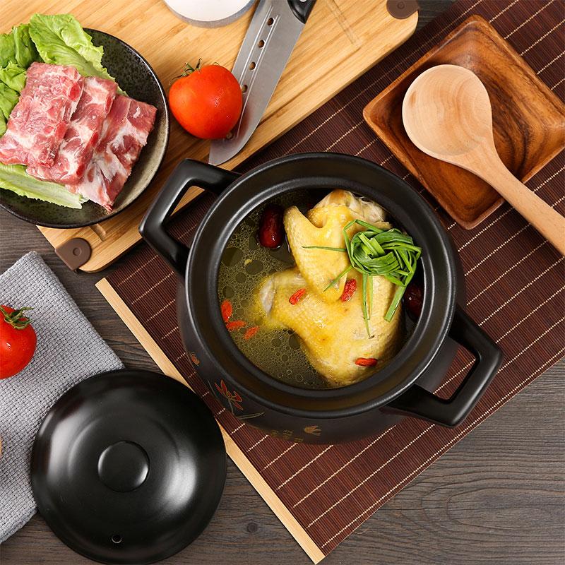 砂锅炖锅家用燃气煲汤明火耐高温瓦罐大小号容量养生陶瓷沙锅石锅
