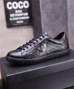 利登阿玛尼男鞋2020春季新款真皮单鞋潮流板鞋百搭英伦休闲小白鞋