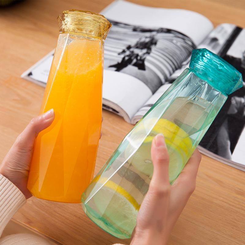 创意简约塑料杯男女学生韩国清新可爱水杯便携大容量原宿随手杯子