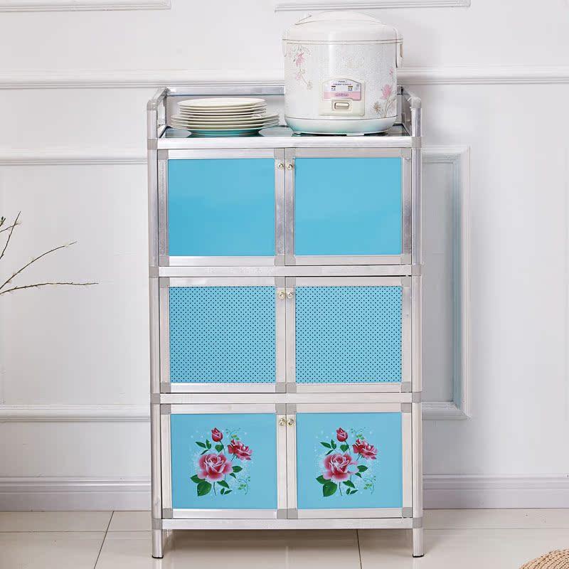 橱柜简易组装经济型简易厨房现代简约碗柜厨房灶台3层小家用便宜