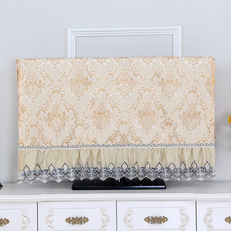 欧式液晶电视机罩挂式坐式55英寸50英寸现代简约电视柜防尘罩盖布