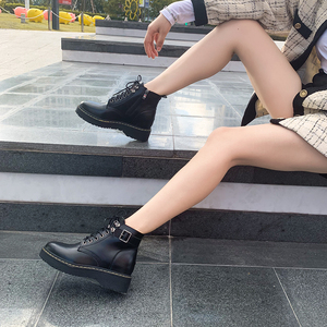 150 small men's small size women's shoes 313233 thick bottom increased Martin boots short men's single boots spring and autumn short boots