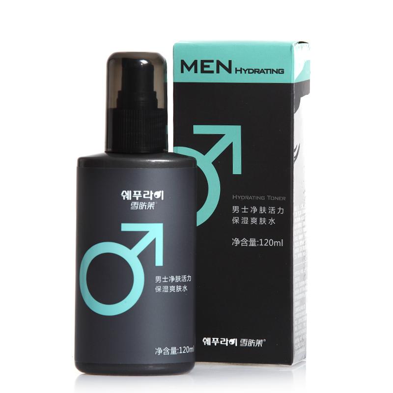 雪肤莱男士净肤活力保湿爽肤水120ml 控油祛痘补水油平衡化妆水