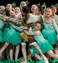 现货新bt0(小)荷风采zc儿童舞蹈表演服装春芽春雨舞台演出服装