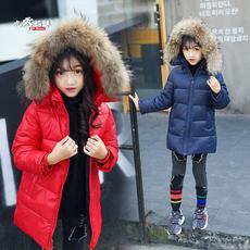2017新款儿童羽绒服男童女童加厚宝宝童装冬轻薄中长款小童中大童