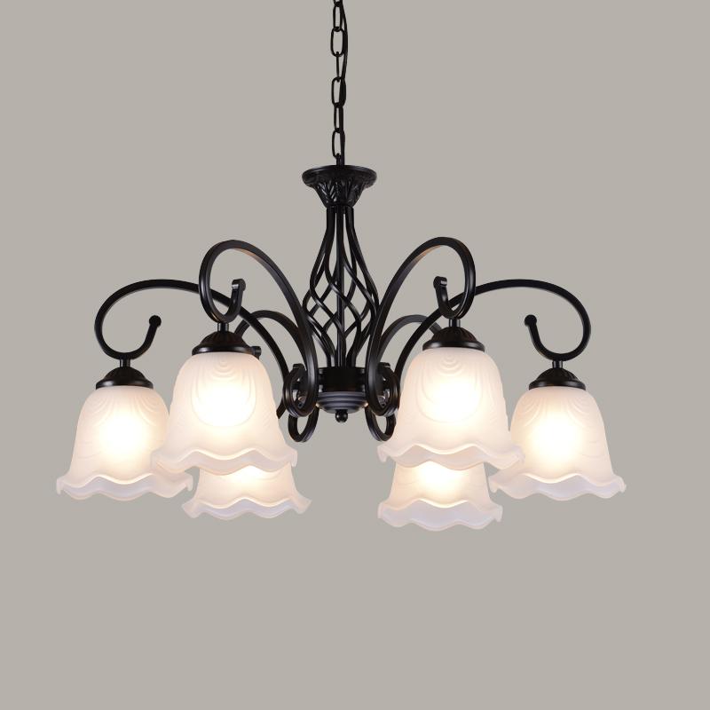 美式吊灯欧式铁艺术复古客厅餐厅地中海卧室现代简约创意吸顶灯具_传氏经典灯饰