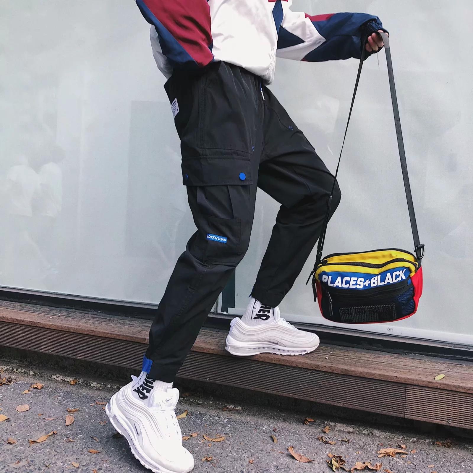 秋冬季新款宽松裤子男士潮牌多口袋工装裤韩版潮流男生束脚休闲裤
