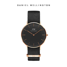 Daniel Wellington Europe and America fashion simple quartz watch import textured black dial DW watch male