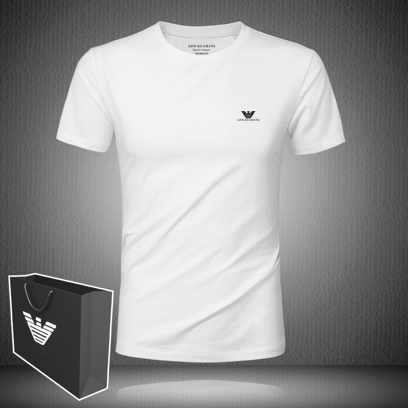 2020夏AJO CK EAMANE男士短袖白色t恤情侣装莫代尔韩版潮流打底衫