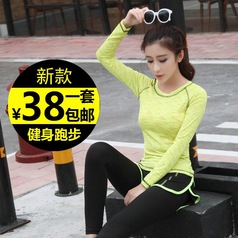 秋冬运动套装女休闲两件套专业瑜伽服韩国速干健身房跑步运动宽松