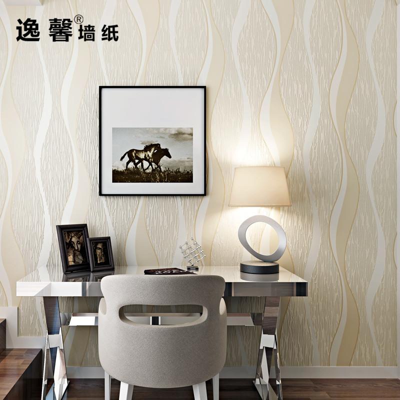 现代简约波浪曲线条纹3D立体雕刻无纺布壁纸客厅卧室餐厅背景墙纸