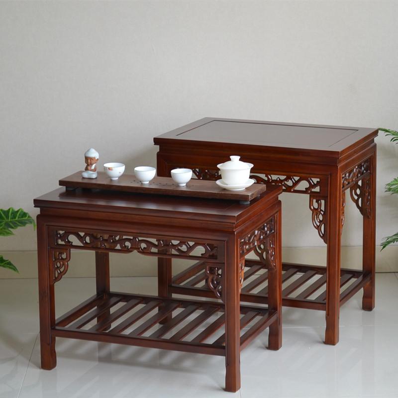 包邮实木茶几功夫茶桌长方形小茶几中式小茶桌客厅家具边几简约