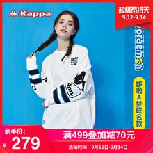 运动圆领套头卫衣长袖 外套新款 Kappa卡帕哆啦A梦联名女款