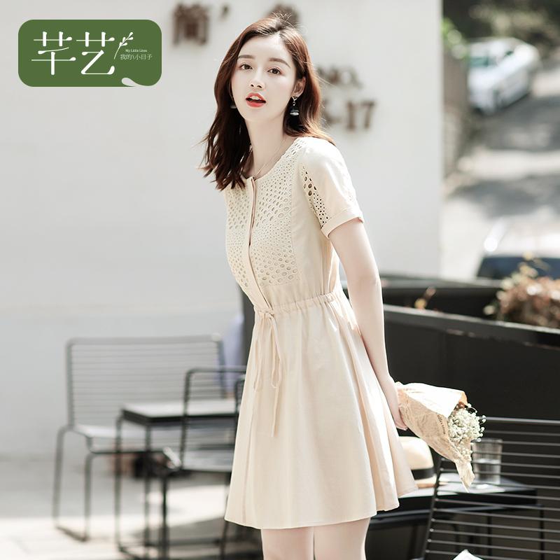 清仓 小个子连衣裙女夏季2018新款气质韩版高腰中长款矮个子裙子