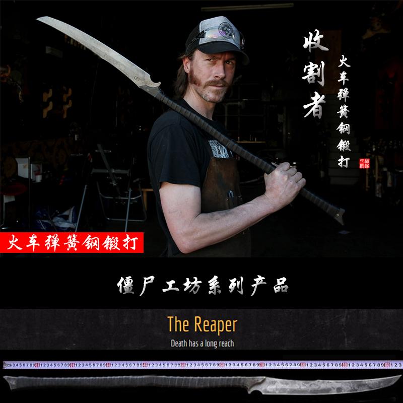 龙泉刀剑武术健身一体长款僵尸工坊春秋大刀十八般兵器影视未开刃