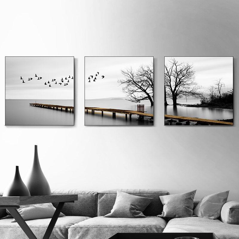 客厅装饰画现代简约北欧风格沙发背景墙床头壁画餐厅墙面挂画墙画
