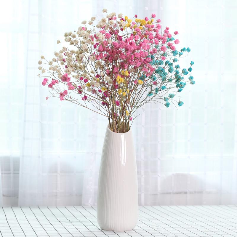 满天星干花花瓶摆件北欧家居装饰品客厅陶瓷插花花器创意简约现代