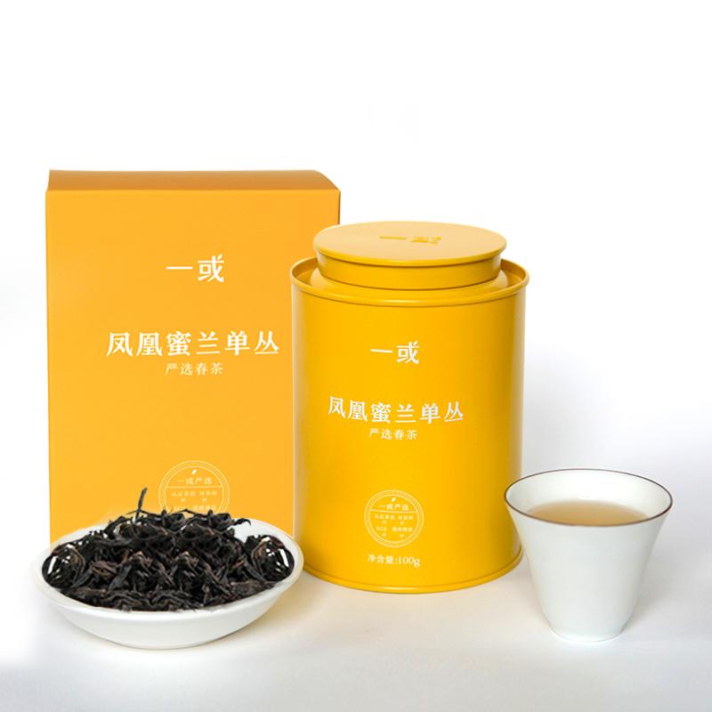 一或 潮州凤凰山蜜兰单丛茶叶 乌龙茶 蜜兰单丛 特级茶叶 100g罐