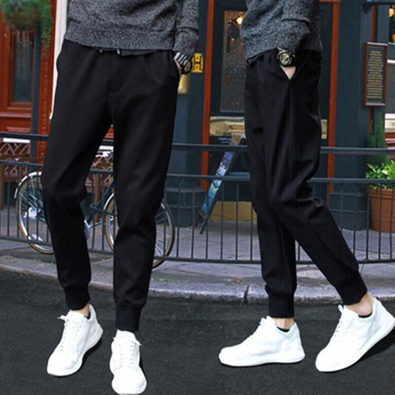 夏季男士速干休闲裤子男装便宜特价9.9修身学生上班土工作超薄款