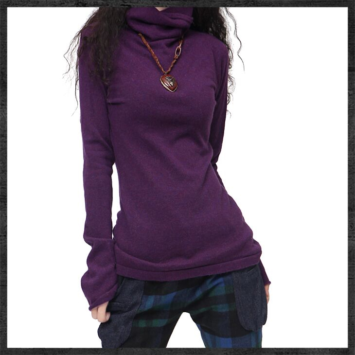 高领打底衫女时髦时尚洋气秋冬新款百搭针织衫内搭宽松堆堆领毛衣