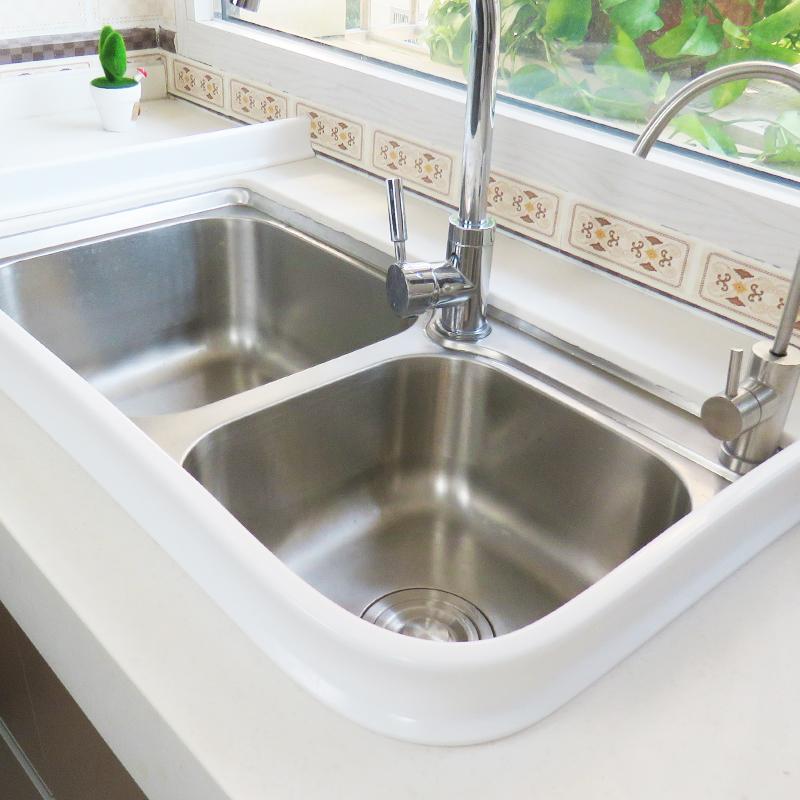 自粘厨房挡水板水池隔水用品洗菜盆防水贴水槽台面防溅水硅胶挡板
