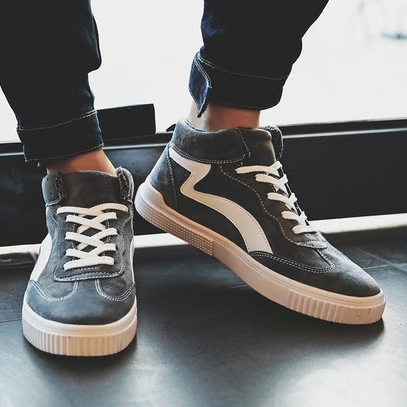男鞋冬季加绒帆布鞋男韩版潮流男士棉鞋保暖布鞋学生板鞋休闲潮鞋