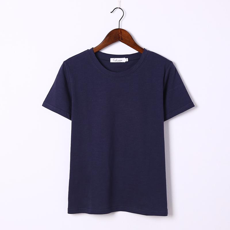 圆领(竹节棉T恤)藏青