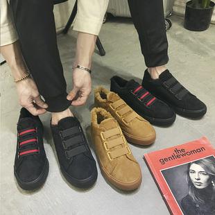 二棉鞋男冬季保暖加绒加厚2018新款韩版潮流百搭休闲鞋一脚蹬男鞋
