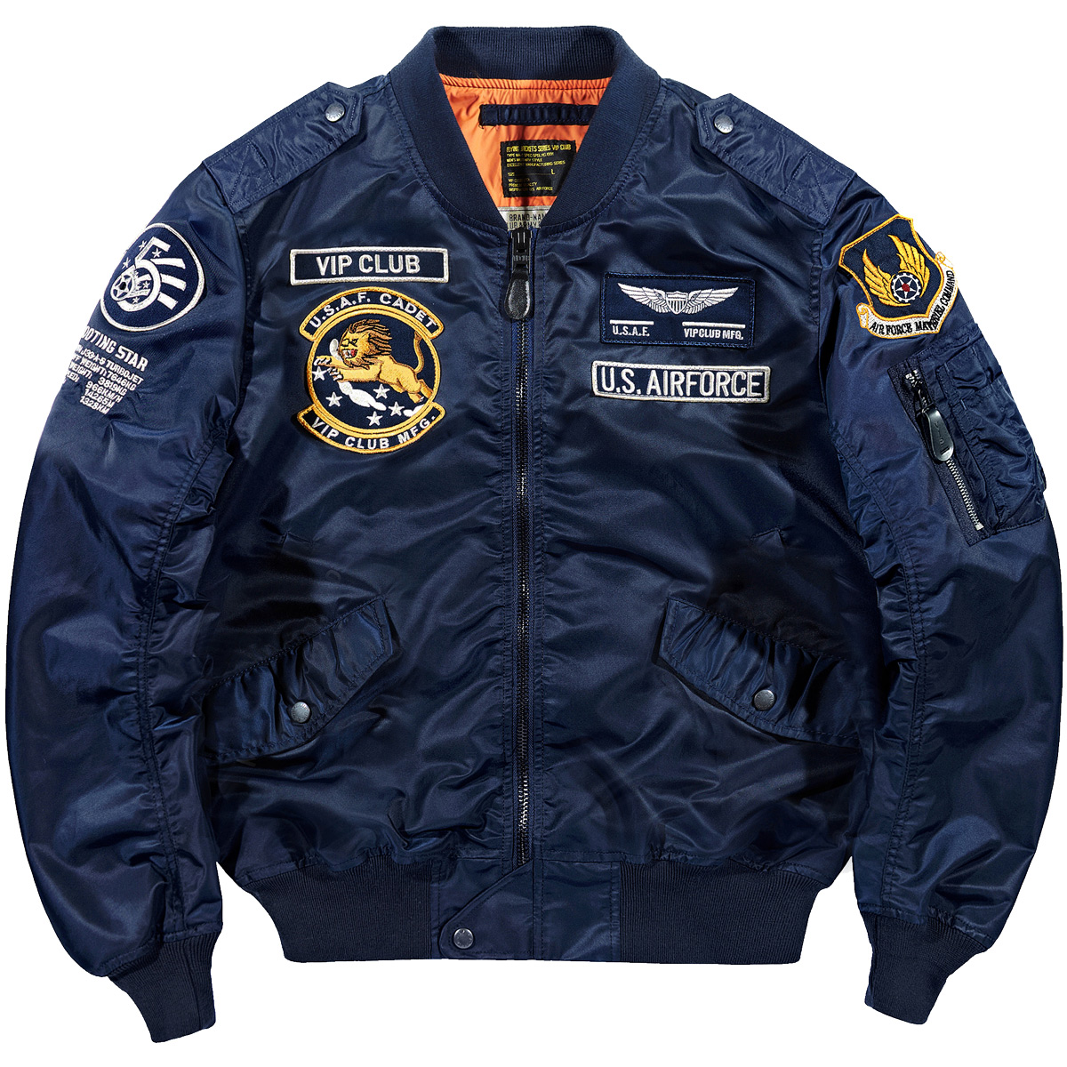 VIP秋季空军ma1飞行员夹克男韩版刺绣棒球服大码飞行服工装外套潮