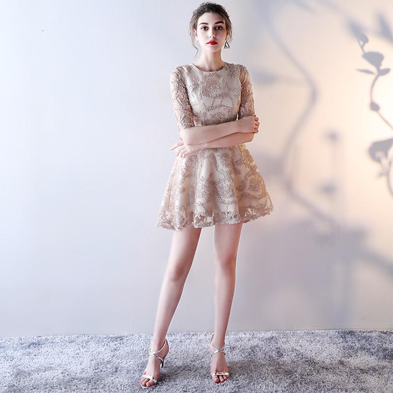 伴娘服短款平时可穿宴会夏洋装气质派对小礼服裙子聚会女仙气学生