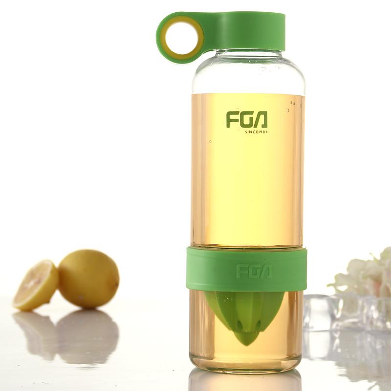 富光柠檬杯 创意随手榨汁杯子 果汁水杯便携活力瓶 塑料茶杯450ml