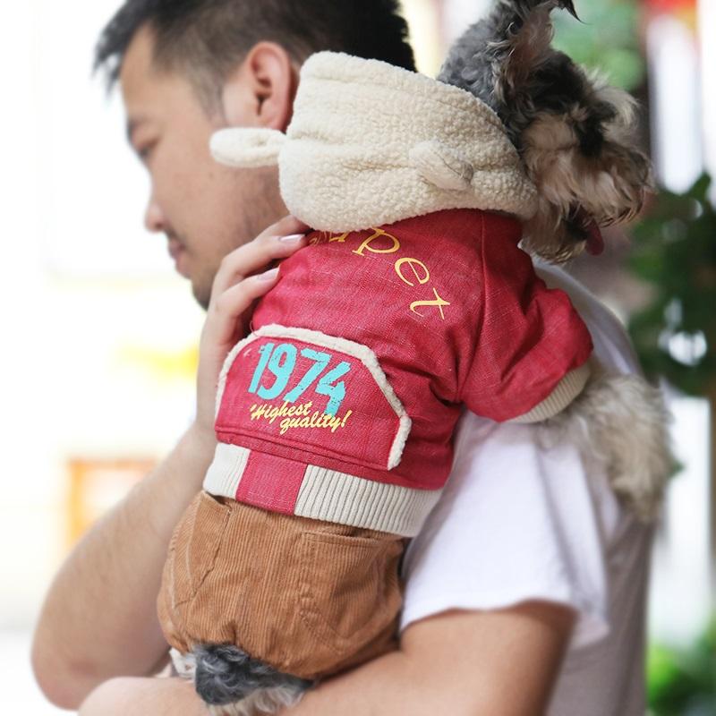 小狗狗衣服泰迪秋冬款比熊博美四脚衣冬季棉服小型幼犬宠物衣服