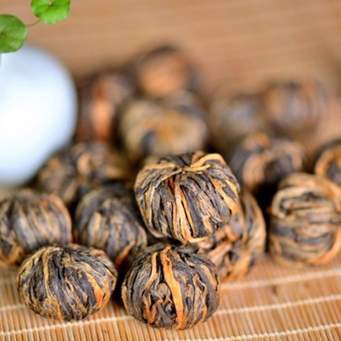 黄金绣球滇红龙珠茶500克散茶百年古树早春手工功夫红茶轻度发酵