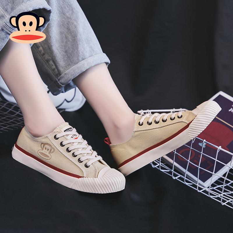 大嘴猴帆布鞋女2019新款韩版复古港味板鞋百搭潮鞋女运动休闲鞋子